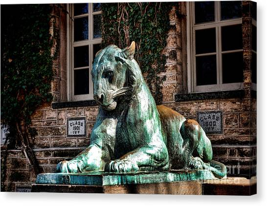 Princeton University Canvas Print - Princeton University Nassau Hall Tiger  by Olivier Le Queinec