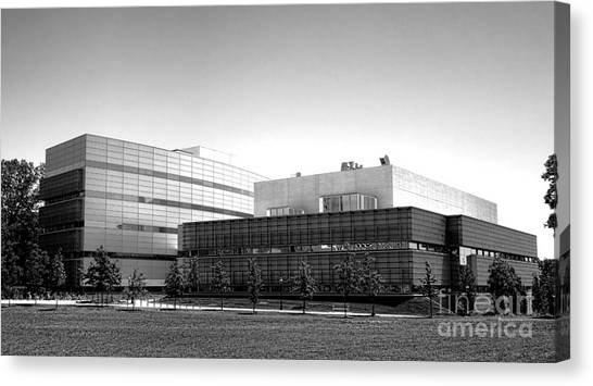 Princeton University Canvas Print - Princeton University Neuroscience Institute And Peretsman Scully by Olivier Le Queinec