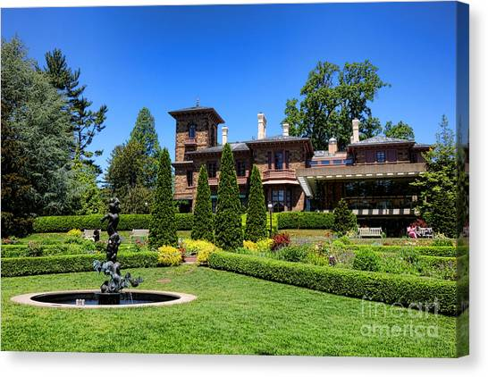 Princeton University Canvas Print - Princeton University Prospect Gardens And House by Olivier Le Queinec