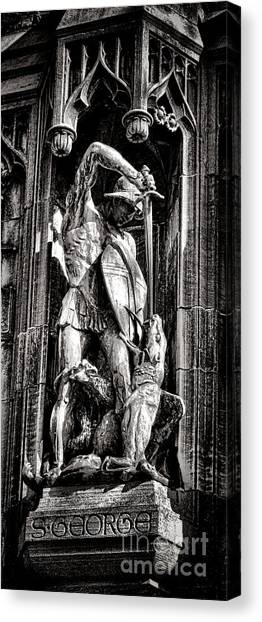Princeton University Canvas Print - Princeton University Saint George And Dragon Sculpture by Olivier Le Queinec