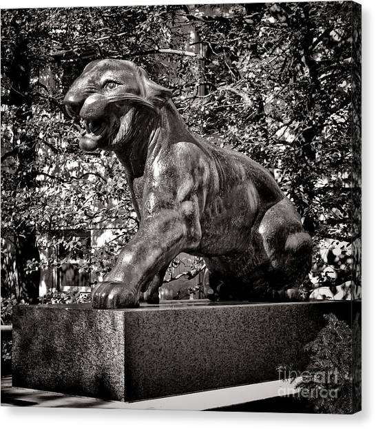 Princeton University Canvas Print - Princeton University Tiger Sculture by Olivier Le Queinec