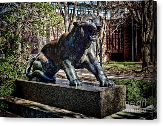 Princeton University Canvas Print - Princeton University Tiger Statue by Olivier Le Queinec
