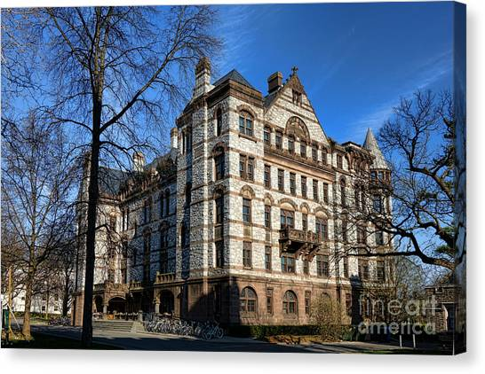Princeton University Canvas Print - Princeton University Witherspoon Hall  by Olivier Le Queinec