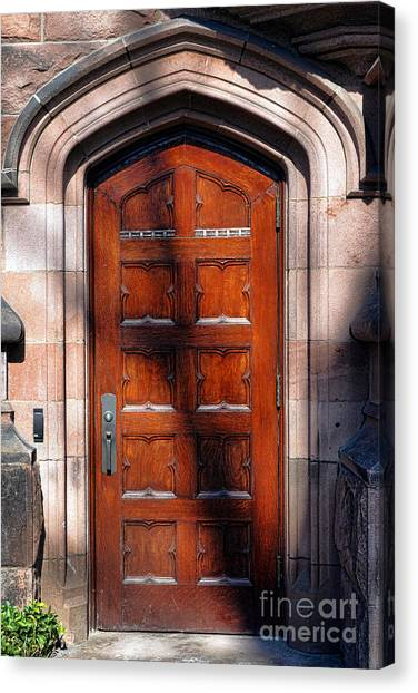 Princeton University Canvas Print - Princeton University Wood Door  by Olivier Le Queinec