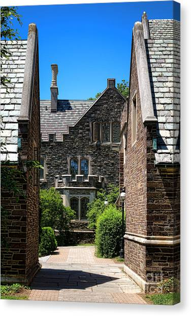 Princeton University Canvas Print - Princeton University Wright Hall by Olivier Le Queinec