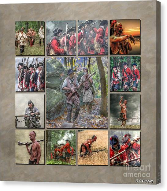 Print Collection French And Indian War Canvas Print