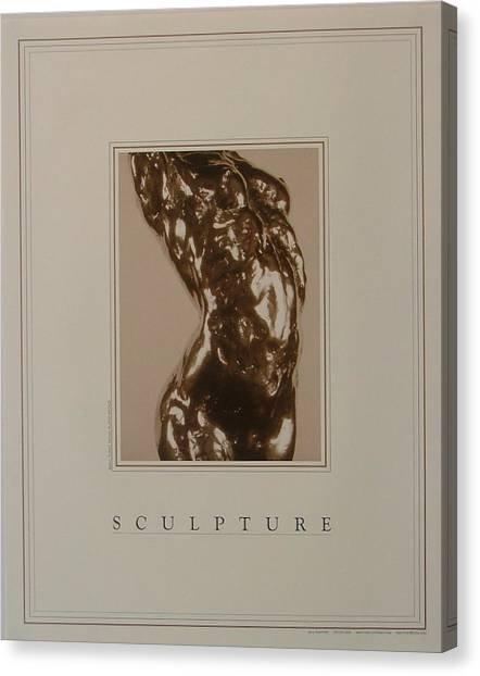 Print Of Sculpture By The Artist Canvas Print by Gary Kaemmer