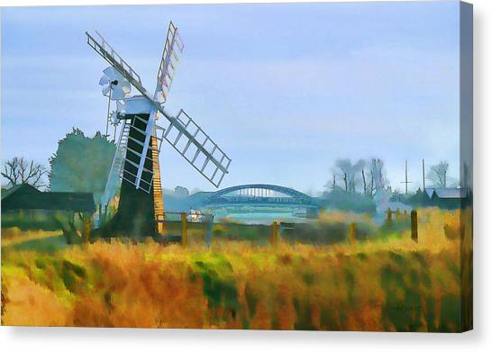 Priory Windmill Canvas Print