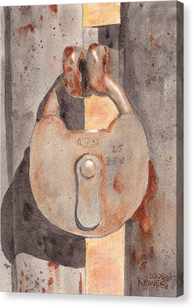 Prison Lock Canvas Print