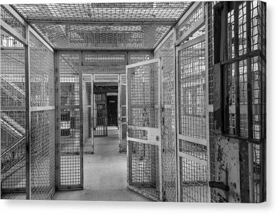 Maze Book Canvas Print - Prison Maze by Steven Bateson