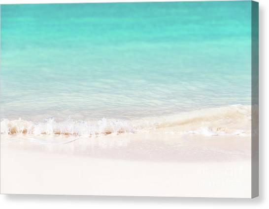 White Sand Canvas Print - Pristine Water And White Sand by Delphimages Photo Creations