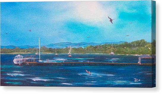 Private Dock Canvas Print by Tony Rodriguez