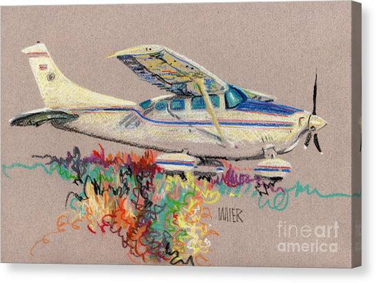 Cessnas Canvas Print - Private Plane by Donald Maier