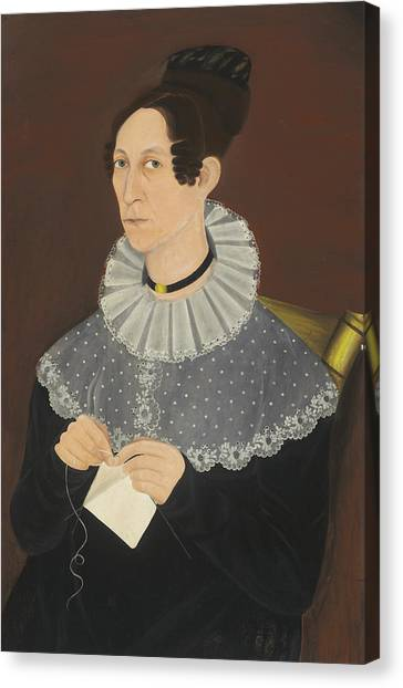 Probably Sarah Cook Arnold Knitting Canvas Print