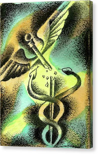 Health Insurance Canvas Print - Problems Of Healthcare by Leon Zernitsky