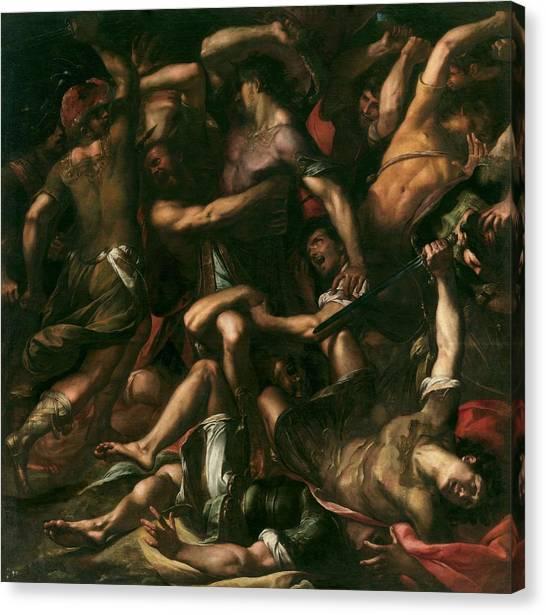 Procaccini Canvas Print - Procaccini, Giulio Cesare Bolonia, 1574 - Milan, 1625 Samson And The Philistines Ca. 1625 by Procaccini