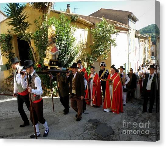 Procession Of Saint Clement Canvas Print