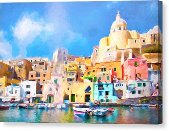 Canvas Print - Procida Italy by Impressionist Art