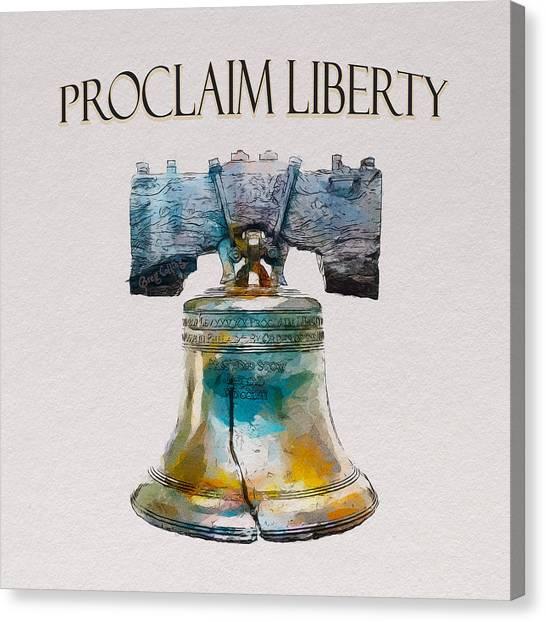 Proclaim Liberty Canvas Print