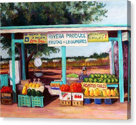 Produce Stand Canvas Print by Candy Mayer
