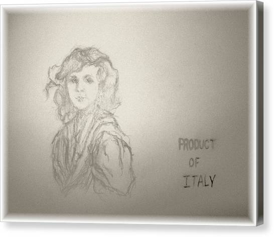 Product Of Italy Canvas Print by Nancy Caccioppo