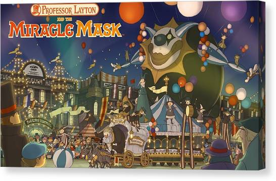 Professors Canvas Print - Professor Layton And The Miracle Mask by Super Lovely