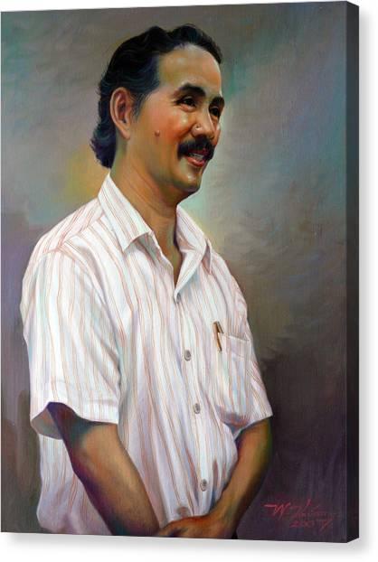 Prof.panya Petchoo Canvas Print