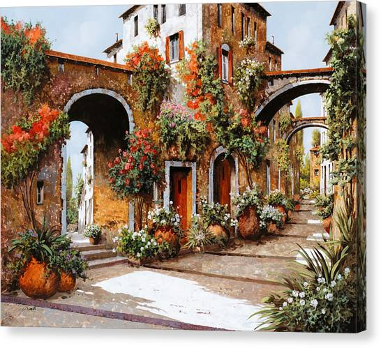 Villages Canvas Print - Profumi Di Paese by Guido Borelli