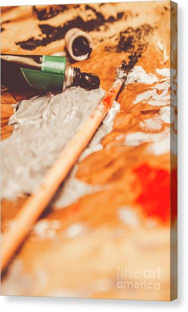 Supplies Canvas Print - Progress Of Oil Painting by Jorgo Photography - Wall Art Gallery