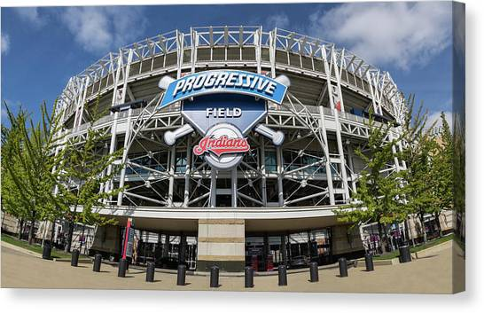 Cleveland Indians Canvas Print - Progressive Field by Dale Kincaid