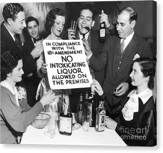 Rum Canvas Print - Prohibition Ends Let's Party by Jon Neidert