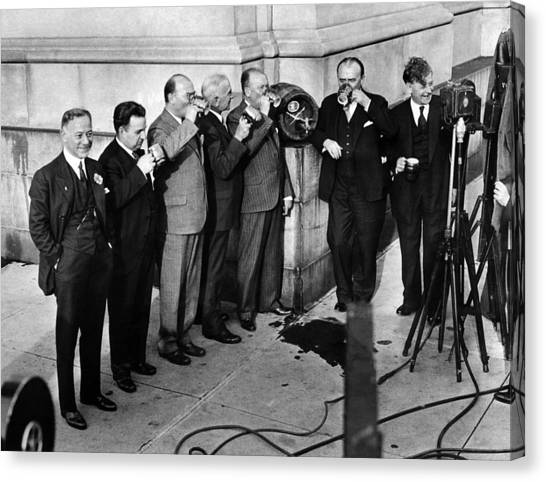 Patrick Canvas Print - Prohibition Wet Congressmen Drinking by Everett