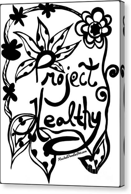 Canvas Print featuring the drawing Project Healthy by Rachel Maynard