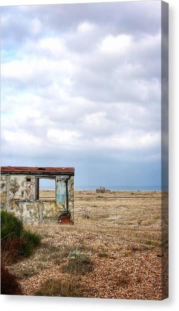 Projekt Desolate Block Canvas Print by Stuart Ellesmere