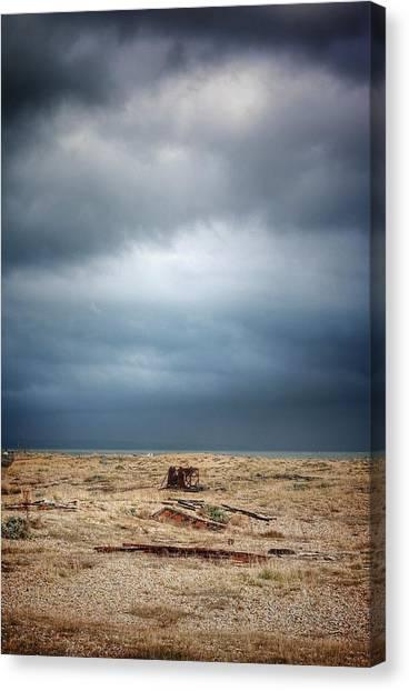 Projekt Desolate Workspace  Canvas Print by Stuart Ellesmere