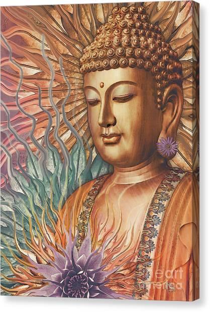 Proliferation Of Peace - Buddha Art By Christopher Beikmann Canvas Print