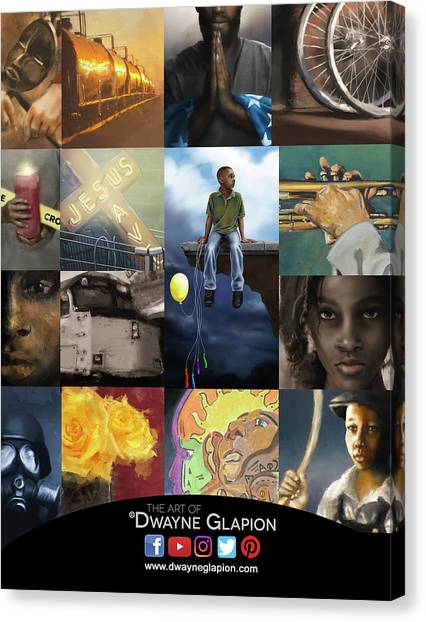 Canvas Print featuring the digital art Promotional 01 by Dwayne Glapion
