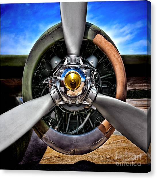 Camouflage Canvas Print - Propeller Art   by Olivier Le Queinec