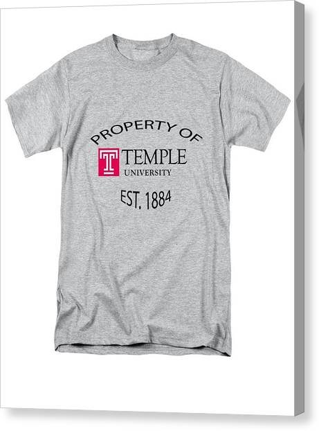 Temple University Canvas Print - Property Of Temple University by T Shirts R Us -