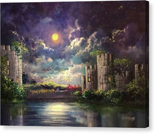 Proposal Underneath The Moon Canvas Print