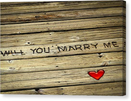 Propose To Me Canvas Print