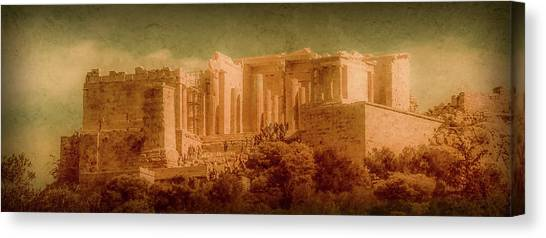 Canvas Print featuring the photograph Athens, Greece - Propylaia by Mark Forte