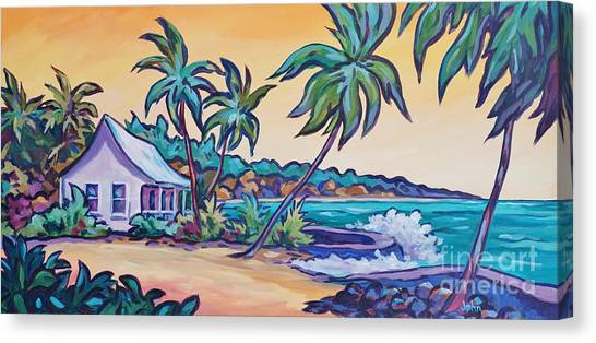 Tropical Stain Glass Canvas Print - Prospect Reef by John Clark