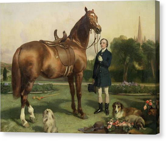 Polo Canvas Print - Prosperity by Sir Edwin Landseer