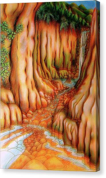Prosperity Waterfall 1 Canvas Print by Barbara Stirrup