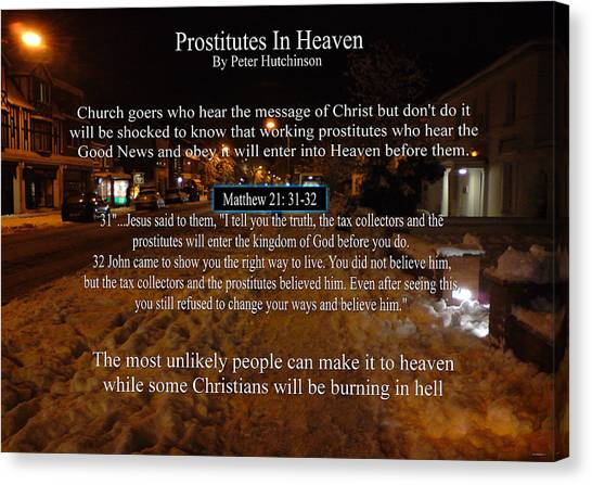 Prostitutes In Heaven Canvas Print