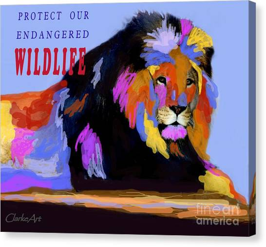 Protect Our Endangered Wildlife Canvas Print