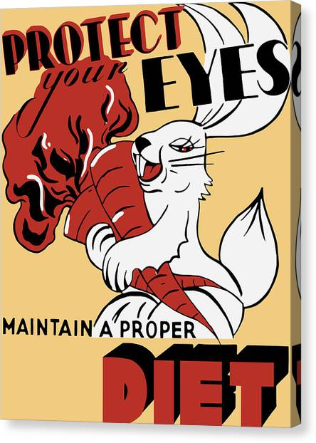 Health Care Canvas Print - Protect Your Eyes - Maintain A Proper Diet by War Is Hell Store