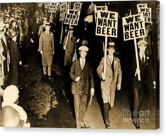 Placard Canvas Print - Protest Against Prohibition, New Jersey, 1931 by American School