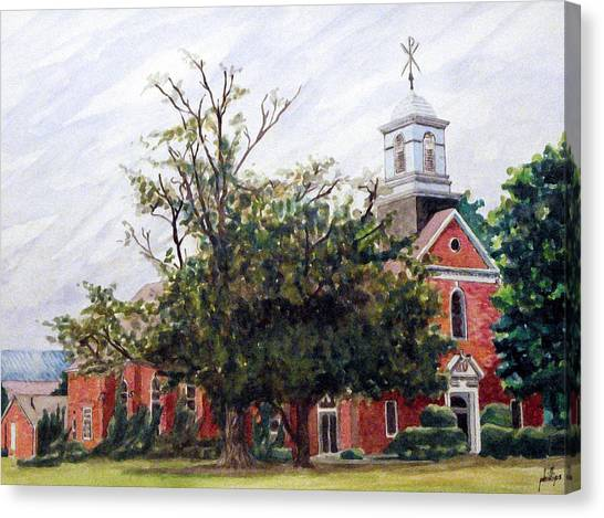 Protestant Chapel At Usmc Camp Lejeune Canvas Print